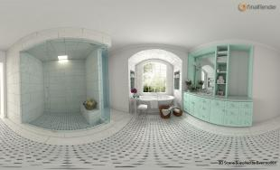 S White Bathroom Pano Web